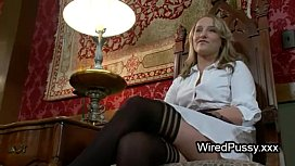 Bound wired maid fucked...