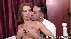 Pounded mature lady mouth spermed