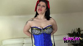 COSPLAY BABES Cosplay Busty Snow White masturbating