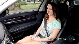 Stranded teen with big...