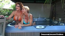 Busty Cougars Deauxma &amp_ Brook Tyler Eat Pussy On Cam!