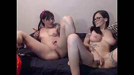 Hot Tattooed Lesbians Stack Up Their Pussies for Double Vision ClitRub - DamnCam.net