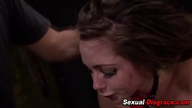 Rough fucked slave gags