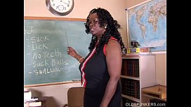 Sexy mature black teacher...