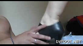 Sexy interracial foot fetisj action on footdomvideos.com preview