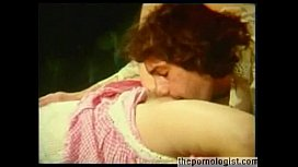 Hot blonde Anna Magle fucks lucky dude in retro porn and he cums twice