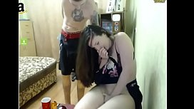 Horny Girlfriend masterbate while...