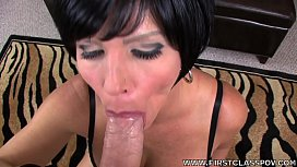 First Class POV - Shay Fox ride and fuck a big dick in POV style