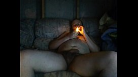 Stroking my cock on chaturbate smoking bowls