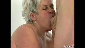 Hairy granny pussy filled with y. dick