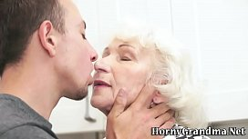 Mature grannys mouth cum...