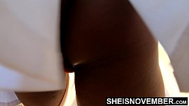 Public Nudity Bicycle Riding Babe Under Upskirt Booty, Tiny Msnovember Ebony Butt Reality 4k On Sheisnovember