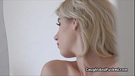Blown by sexy blond...
