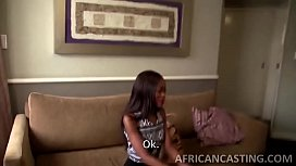 Skinny african babe getting...