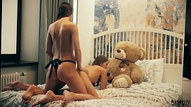 2 Lesbians College Roommates Have Sex In Front Of Teddy Bear With A Strapon Dildo And Receives Cumshot In Mouth This Is Free Preview Trailler From Plushies TV Starring Eve S And Rebeka Ruby And Plush Toy Teddy Bear Brownie With Big Black Cock