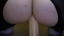 Girl in pantyhose fuck yourself in the ass dildo.