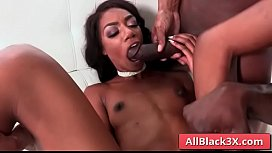 Ebony Chanel Skyes gets her mouth and ass filled with huge black cocks - Prince Yahshua &amp_ Jax Slayher