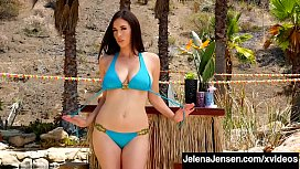 Hot Long Legged Jelena Jensen Rubs Her Perfect Pussy &amp_ Cums!