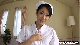 Asian nurse sucking hard...