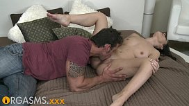 ORGASMS Hot brunette with...