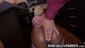 4k Foreplay With Msnovember Then Step Dad k. Her Ebony Pussy Doggystyle &amp_ Ass Play On Sheisnovember