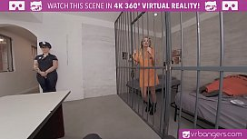 VRBangers.com-Beautiful prisoner is working your dick to get out of prison