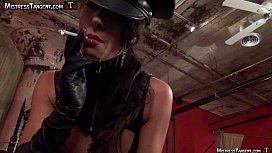 Mistress Tangent spitting and...