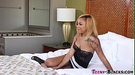 Ebony slut gets creampie...