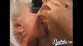 Gorgeous blonde babes assfucked...