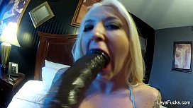 Leya Falcon Dildos Herself...