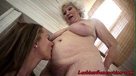 Teen eats matures hairy...