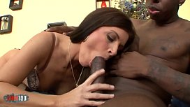 A giant black cock for the milf