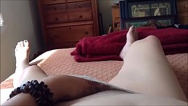 Horny amateur Milf Plays with her Hairy Pussy and Reaches Orgasm