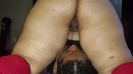 I put this wet Latina pussy on his face.
