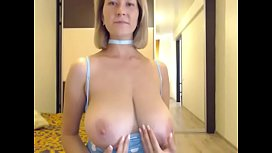 Hot woman lives showing huge tits xxx video