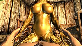 The female Argonian and...