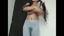 Nice tits babe squirting...