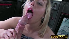 Hot Ashley gets tricked by the taxi driver and gets her pussy fucked doggystyle