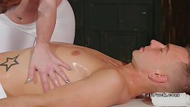 Bare boobs masseuse relaxing...