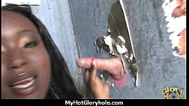 Gloryhole cock licking and sucking interracial 23