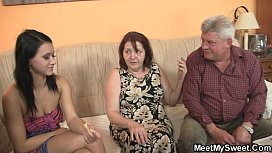 Old parents fuck her...