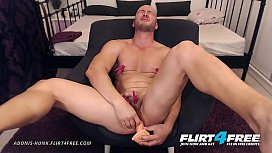 Adonis Hunk - Flirt4Free - Muscle Stud Bondage t. Before Hot Cum Shot