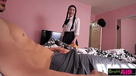 Bratty Sis - Quick Ride On Brother's Huge Cock Before Class S5:E1