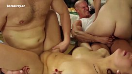 Crazy orgy with czech...