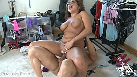 Big boobed Penelope Piper gets jizzed
