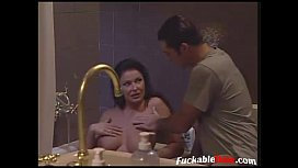 Cougar seduce young guy in hotelroom