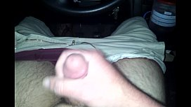 Amateur male jerk in car