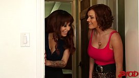 Krissy Lynn And Alyssa Lynn Are Cougar Step Sisters Looking For A Fuck