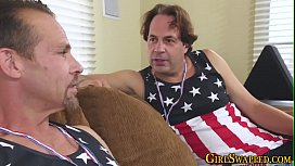 Teen deep throats stepdad