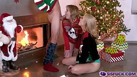 Horny stepsibling waiting for their turns to be banged from behind!